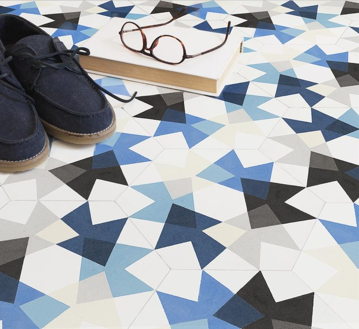 Playfully random Keidos floor tiles by MUT Design