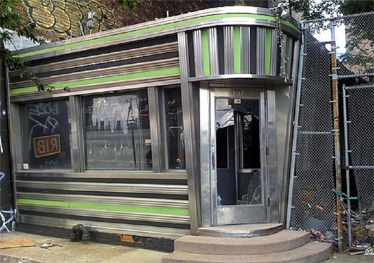 Abandoned Art Deco diner - New York