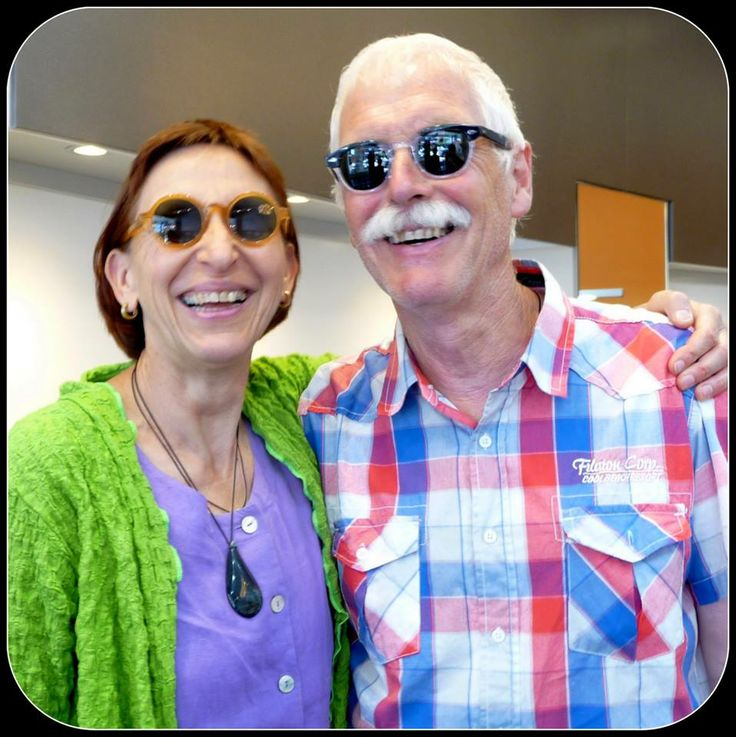 Always bringing sunshine and happiness into the shop when they come! Our good friends Mechthilde (in #MYKITA) and Peter (in #Moscot). #Kuske #KuskeEyewear #Nelson #Eyewear