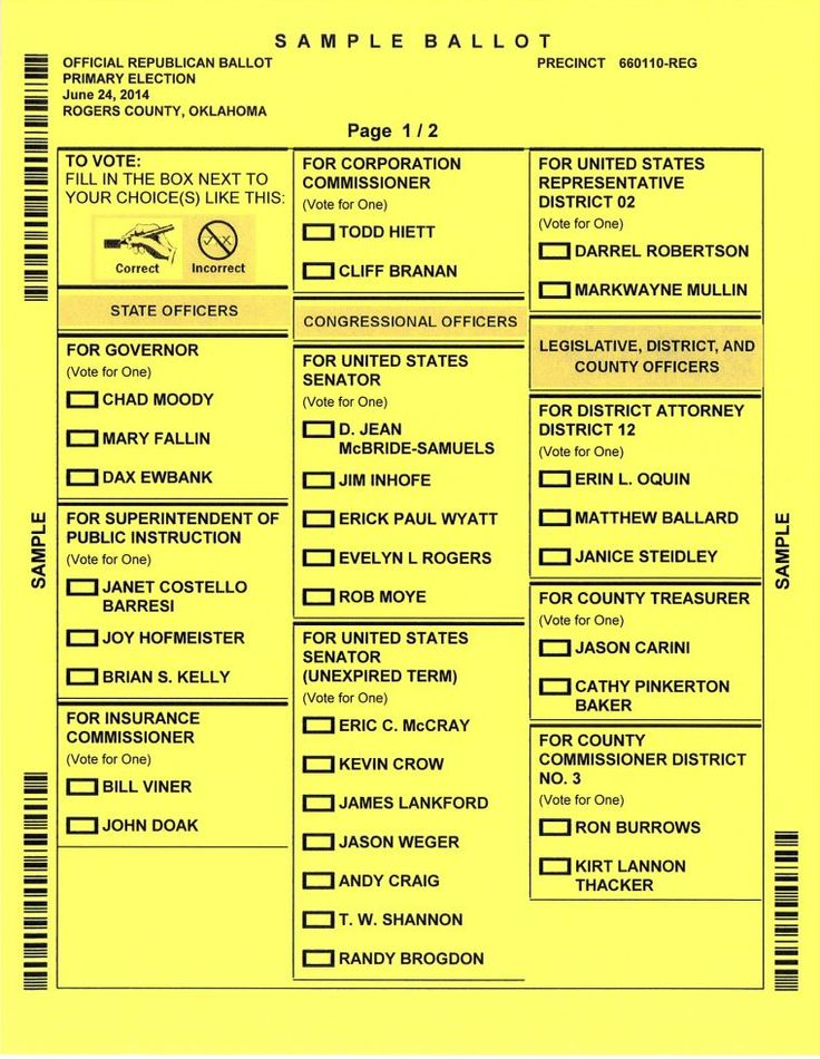 Sample ballots available here