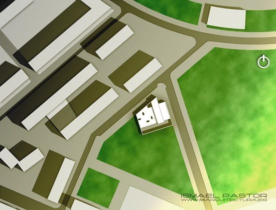 Concurso biblioteca en Valencia_plano de situación. AutoCAD + Photoshop CS6.