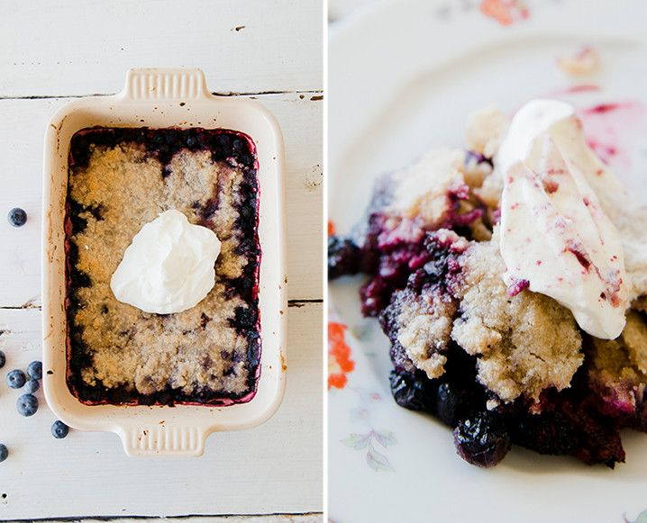 Grain-Free Summer Berry Cobbler With Hazelnut Crumble - The Chalkboard