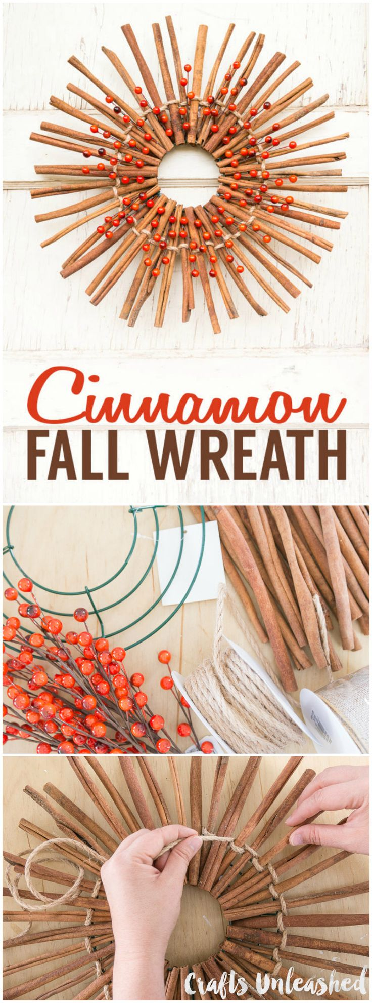 Cinnamon sticks for crafts - Cinnamon Stick Wreath For Fall Consumer Crafts