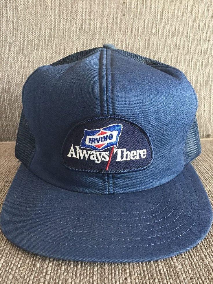 Vintage Irving Oil Gas Trucker Hat Retro 80's Snap Back Mesh Canada NB NS    eBay