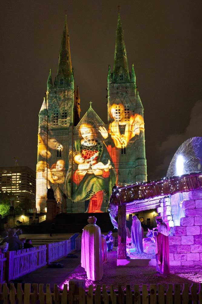 st marys cathedral christmas lights spectacular aussie lighting world