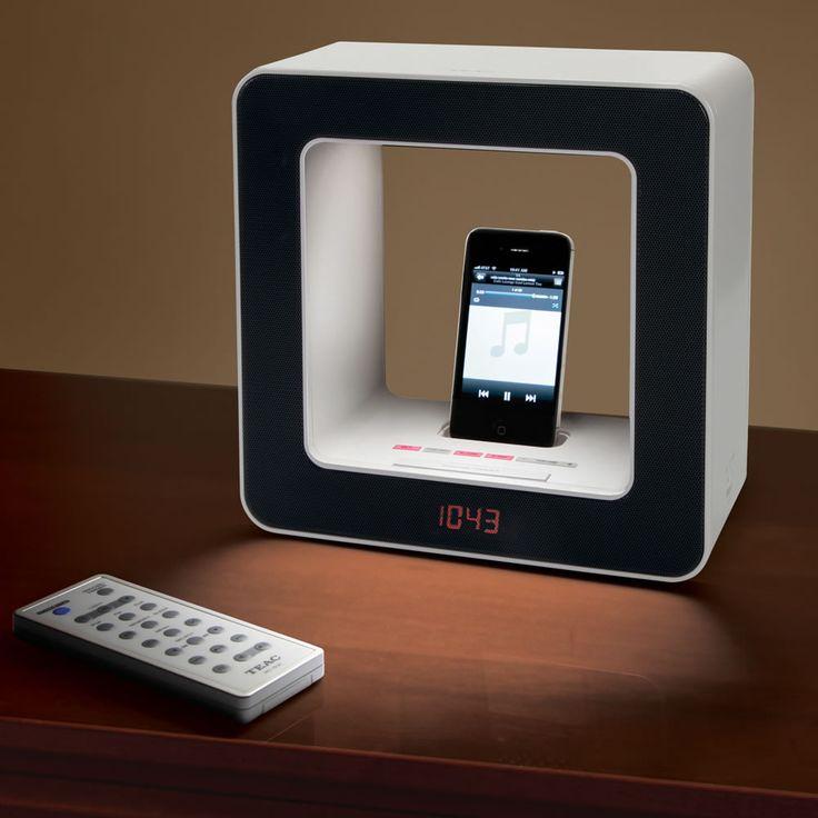 The iPhone Alarm Audio Lamp - Hammacher Schlemmer
