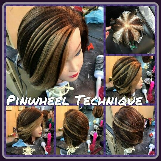 Pinwheel Technique Beautiful hair color... By Brittney Boney