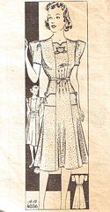 Vintage Anne Adams 4036 Day Dress Pattern Bust 40