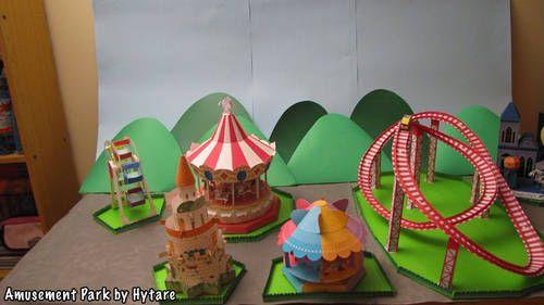Project: Papercraft Amusement Park! - PAPER CRAFTS, SCRAPBOOKING & ATCs (ARTIST TRADING CARDS)
