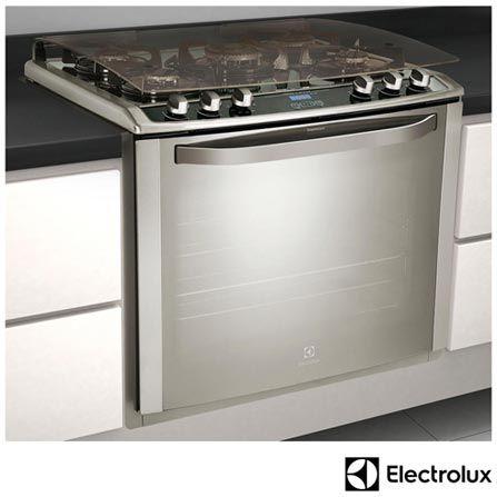 Imagem para Fogão de Embutir de 05 Bocas Electrolux com Acendimento Super Automático, Grill, Timer, Painel Blue Touch Inox - 76GEX a partir de Fast Shop