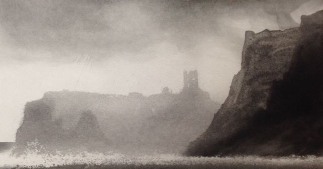 """Scarborough"" by Norman Ackroyd (etching)"