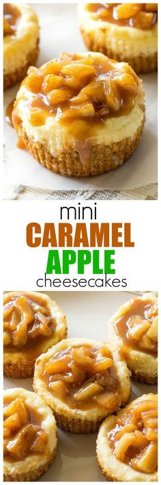 Mini Caramel Apple Cheesecakes - so easy and individually portioned! http://the-girl-who-ate-everything.com