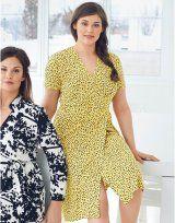 Žluté zavinovací šaty