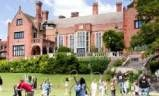 Students playing on the grounds of Shiplake College in Henley-on-Thames