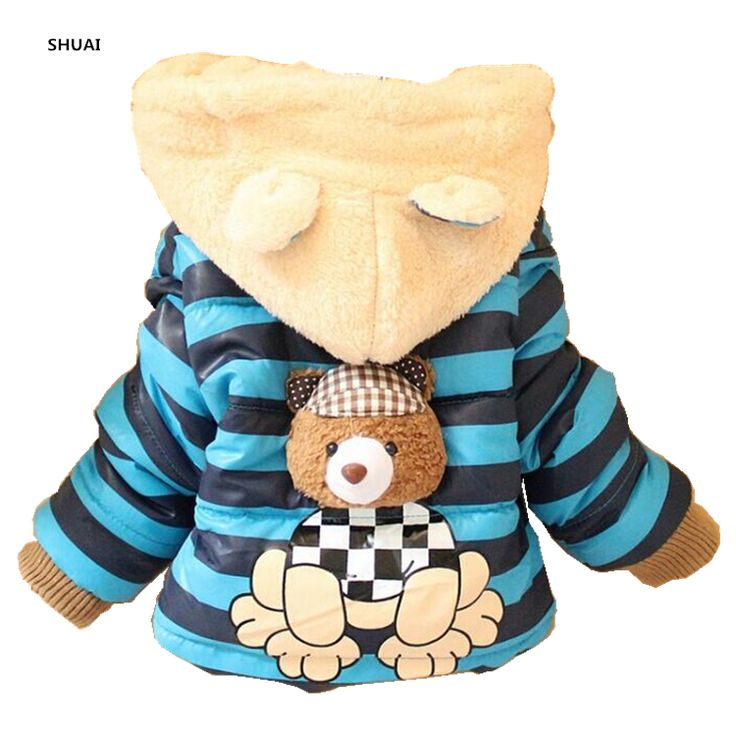 New Baby Boys Jacket Cartoon Bear Baby Keeping Warm Cotton Kids Hoodies Winter Boys Coat Casual Children Outerwear Kids Clothing //Price: €18.52 & FREE Shipping //   #fashion #baby #clothes #trendy #2017