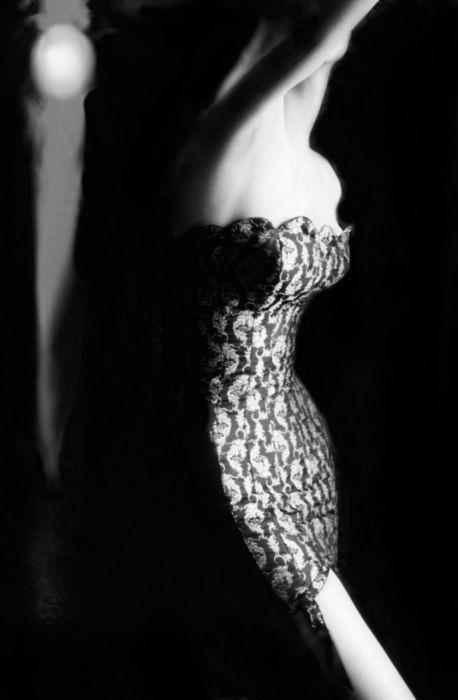 Shaped and Supple, 1954; model Alicia Mendoza in a corselet by Warner's | photographed by Lillian Bassman