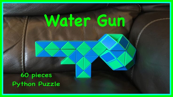 This original Youtube video shows how to make a water gun shape using the 60 piece Rubik's Twist or Smiggle Python Puzzle.  It is an advanced shape posted by Antoine Lee.  Check out the new Facebook Page where you will find images of all Antoine's video tutorials to date together with links to all his videos. Click the 'Like' button to see his Facebook posts when he uploads new videos https://www.facebook.com/AntoineTutorials :)