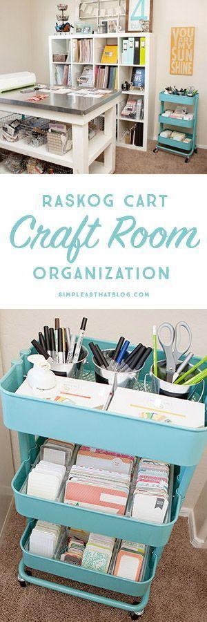 Craft room organization.