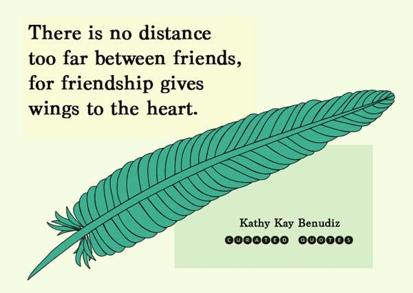 There is no distance too far between friends – Picture Quote