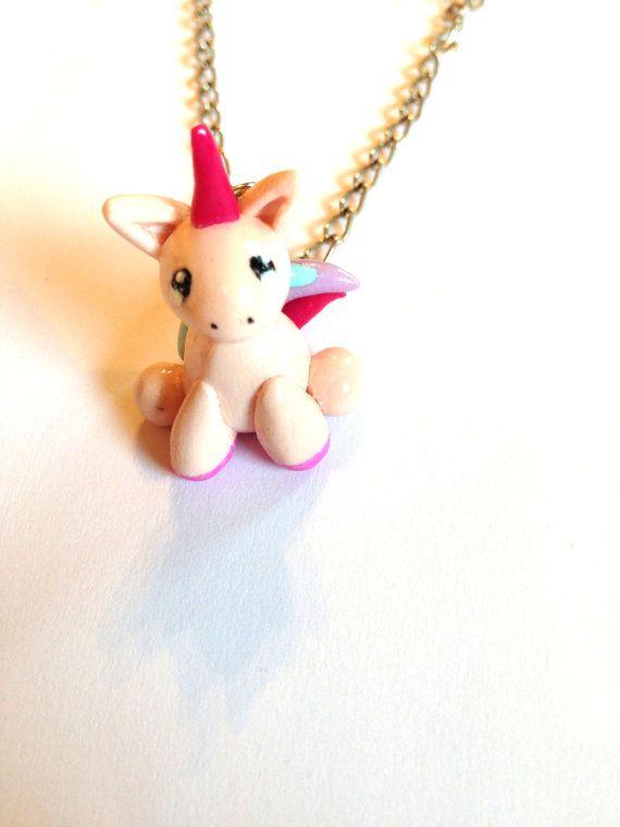 Unicorn Necklace Unicorn Jewelry Pastel Unicorn by LittlePandahugs