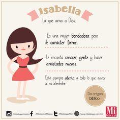 Isabella #NombresDeBebé #RecomendaciónMIB
