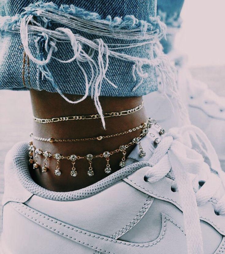 jewelry goals, anklet, layered jewelry, fine jewel…