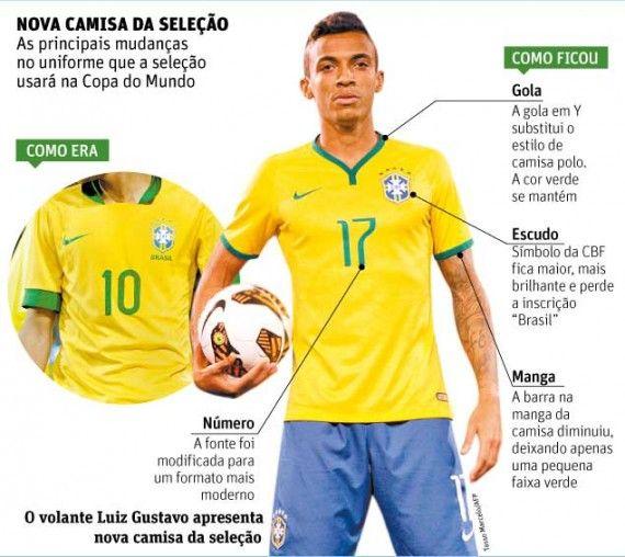Camisa do Brasil Copa 2014