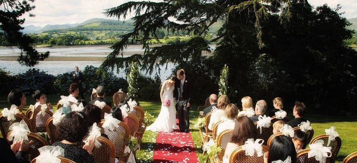 Ceremony at Sheen Falls Lodge