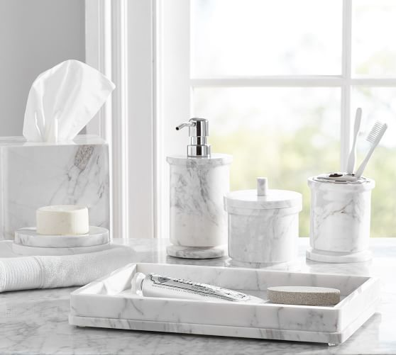 Monique Lhuillier Marble Bath Accessories Pottery Barn Weddings