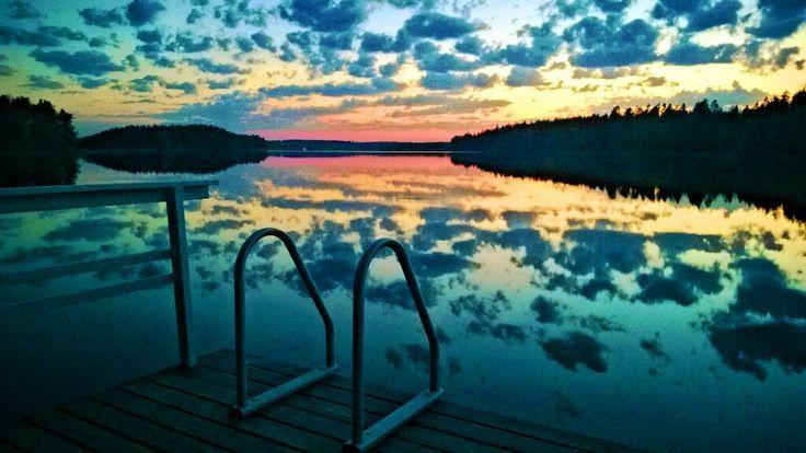 Youinnille? To swim or not? Näsijärvi, Finland
