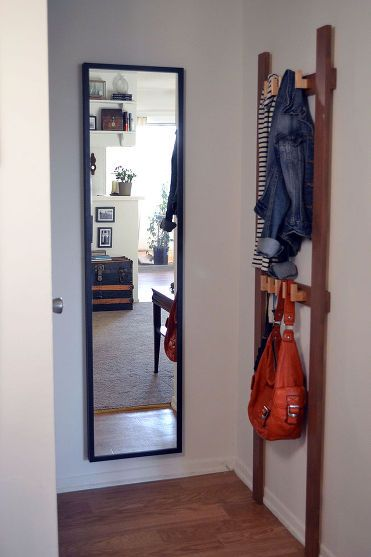 Small Foyer Makeovers : Small entryway makeover bags entry ways and the doors