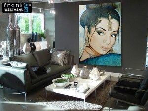 Modern schilderij, moderne kunst. Een mooi schilderij is een aanvulling op ieder interieur. Ook in een kleinere ruimte past een groot schilderij mooi en maakt het de ruimte optisch groter. | Groot schilderij van Frank Wagtmans.