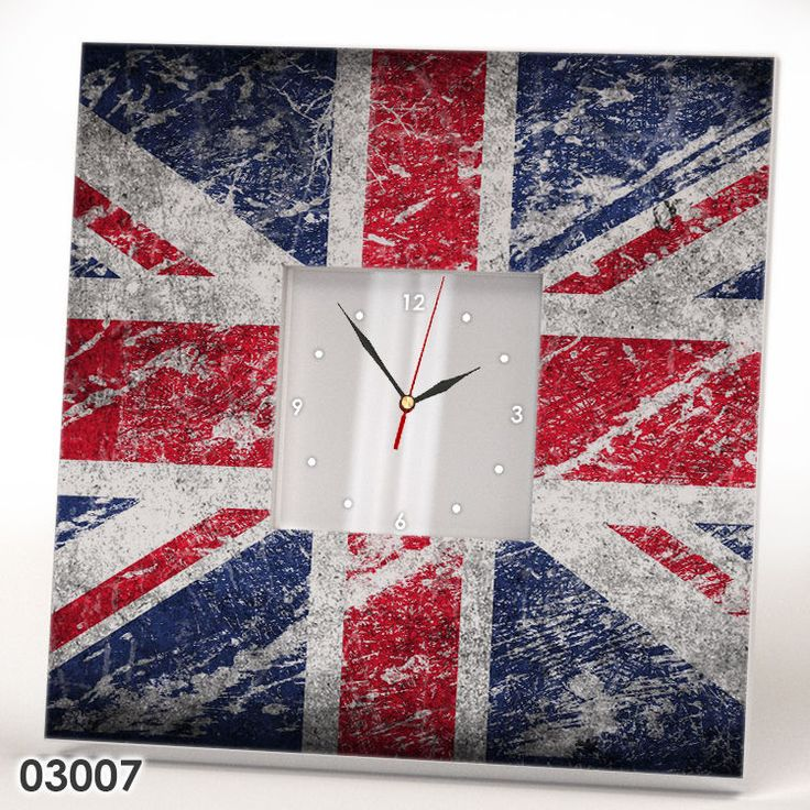 Great Britain United Kingdom Wall CLOCK Mirror Flag UK Fan Art Gift Room Decor #IKEA #Americana