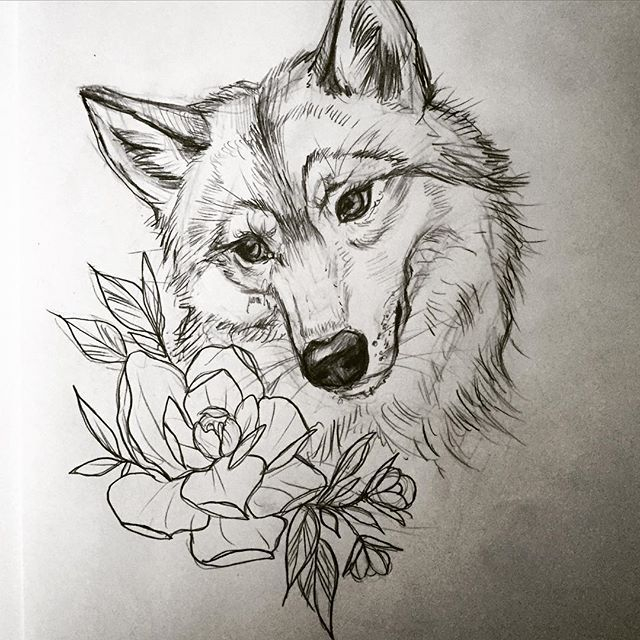 Wolf Line Drawing Tattoo : Best awesome wolf tattoos images on pinterest