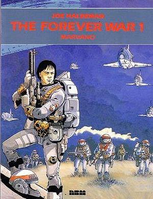 "Mandella, (anti-)hero of the ""Forever War"". Based on Haldeman's book, drawn by Marvano"