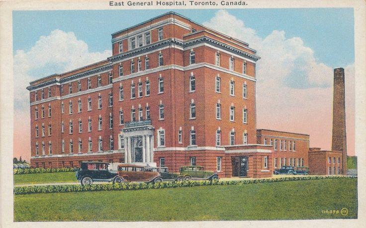 POSTCARD+-+TORONTO+-+EAST+GENERAL+HOSPITAL+-+1930s.jpg (1509×941)