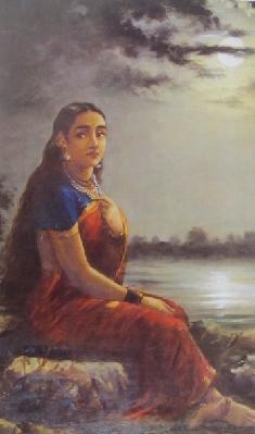 Raja Ravi Varma's Lady In Moonlight