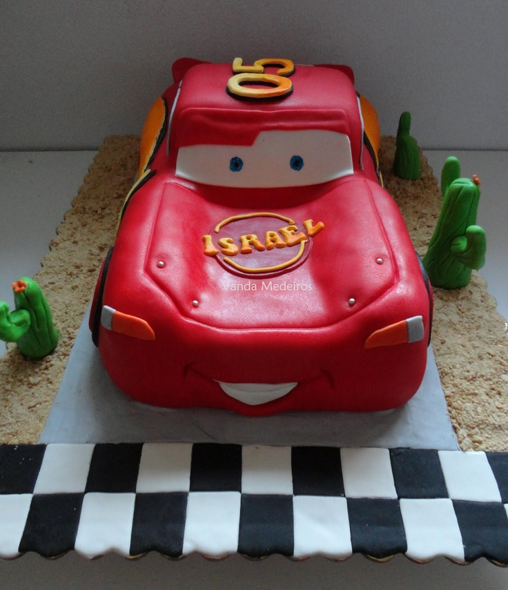 Bolos decorados Cars: Fiesta Inf, Decorated Cakes, Crafts