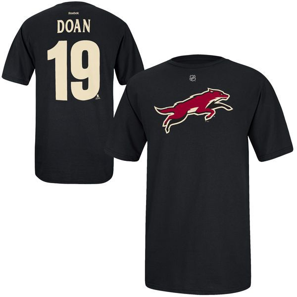 9e9aba134c5 Shane Doan Arizona Coyotes Reebok Name and Number Player T-Shirt ...