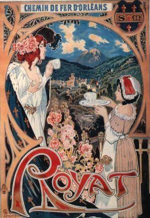 Visitez Royat / vieille affiche touristique