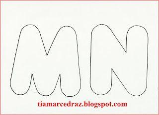 PRÓ-MARCELA CEDRAZ: Molde de letras grandes de E.V.A