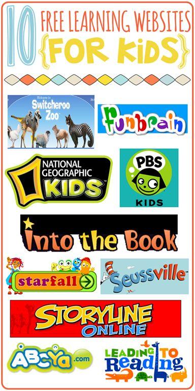 10 learning websites for kids
