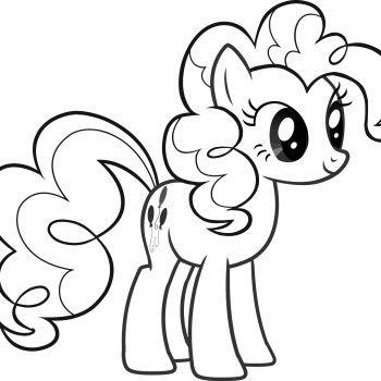 pinkie pie my little pony coloring pages  cute coloring