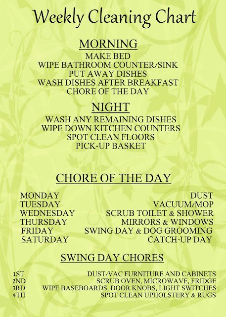 great chore chart for the family to all pitch in together