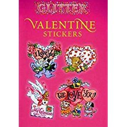 Glitter Valentine Stickers (Dover Little Activity Books Stickers)