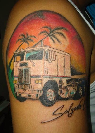 semi truck tattoos truck tattoo tattoos pinterest truck tattoo tattoo and tatoo. Black Bedroom Furniture Sets. Home Design Ideas