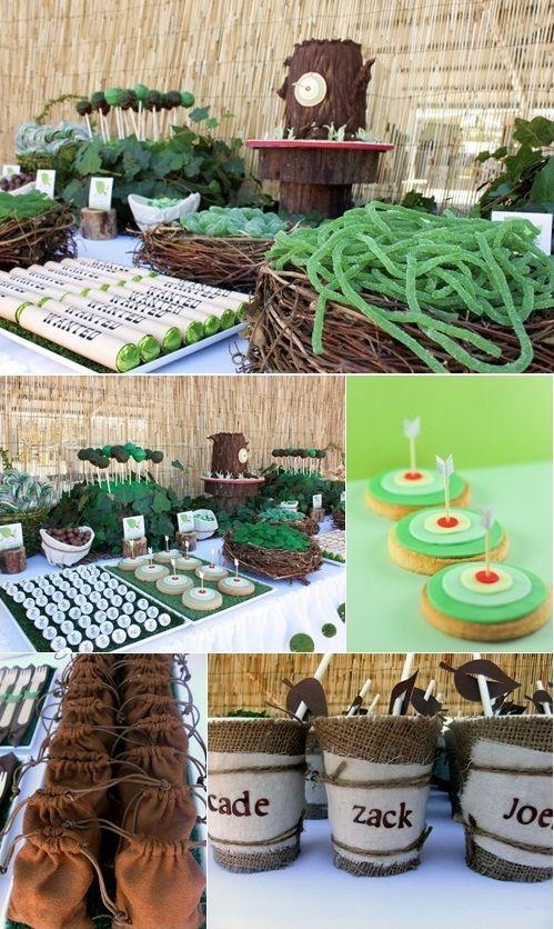 Mesa de dulces en fiesta infantil tem tica de valiente for Mesas de dulces infantiles