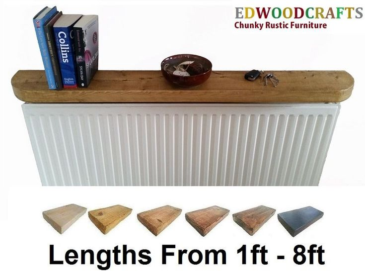 FLOATING SHELVES RECLAIMED CHUNKY RUSTIC RADIATOR SHELF CURVED EDGES 6X2 TIMBER