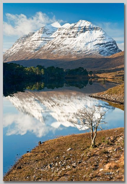 """Liathach (""""The Grey One"""") over Loch Clair, Torridon"""