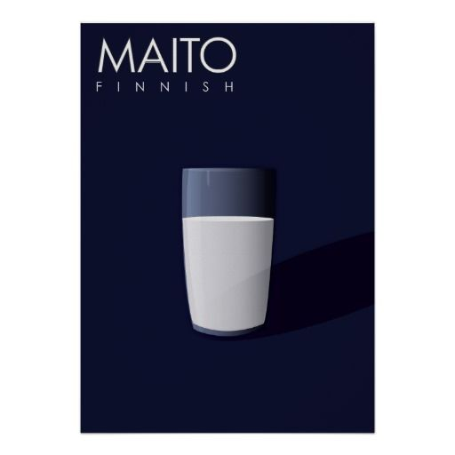 M is for Maito, Finnish for Milk. Print  - part of the Linguistics Monsters Alphabet